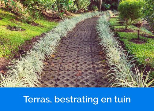 Terras,bestrating en tuin
